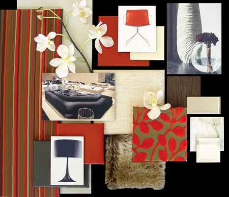 Fabric board for bedroom residential gallery interior for Fabric for interior design
