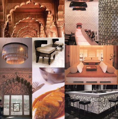 Red Fort Indian Restaurant Mood Board